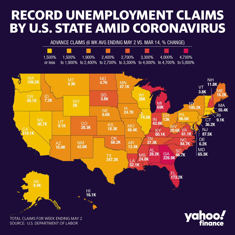 Coronavirus job losses hit these 3 states the hardest