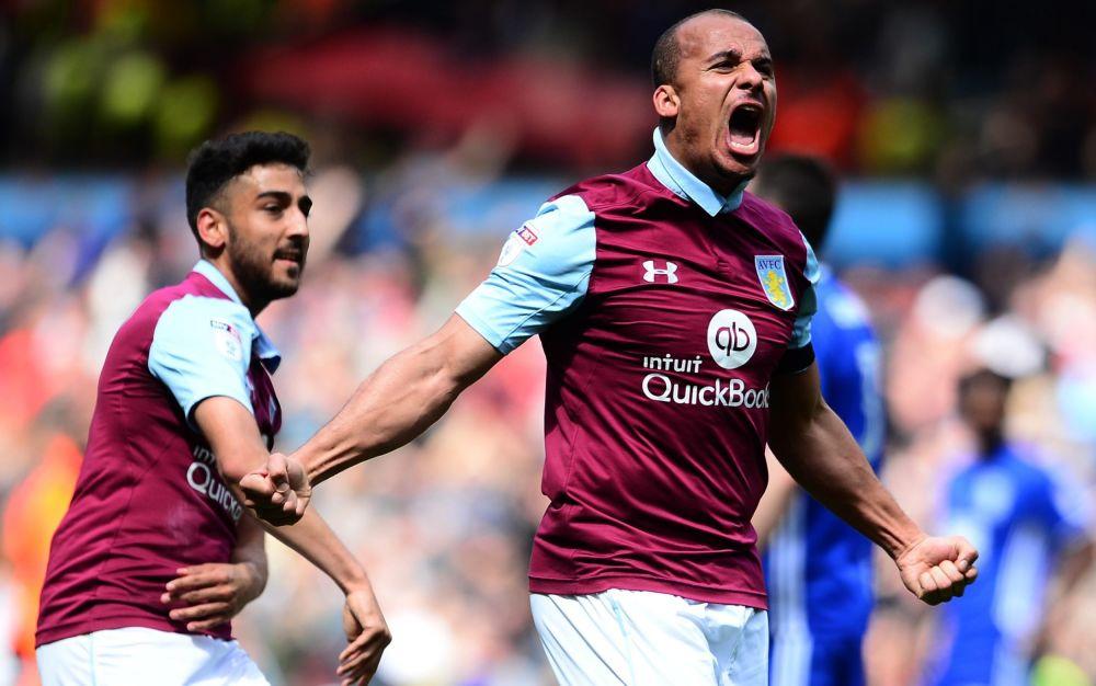 Gabriel Agbonlahor celebrates scoring for Aston Villa - Getty Images Europe