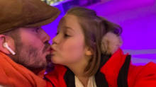 'That looks wrong': David Beckham criticized for kissing daughter Harper on the lips