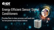 IDT Launches Energy Efficient and Highly Precise 18-Bit Sensor Signal Conditioner for Capacitive Sensor Applications