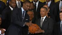 How to Shoot Like Chris Bosh: The Miami Heat Star on Obama's Basketball Skills