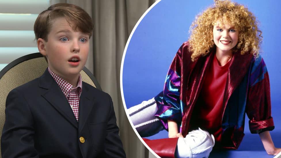 Young Sheldon star's hilarious reaction to Nicole Kidman's 80s glamour shots