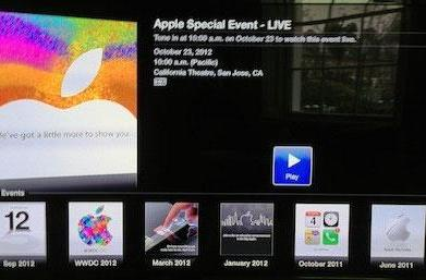New Apple TV Events channel will stream the special event later today (update: and on your Mac)