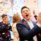 Comedian upsets Ukraine's president in landslide election victory