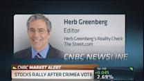 What goes up fast could come crashing down: Greenberg