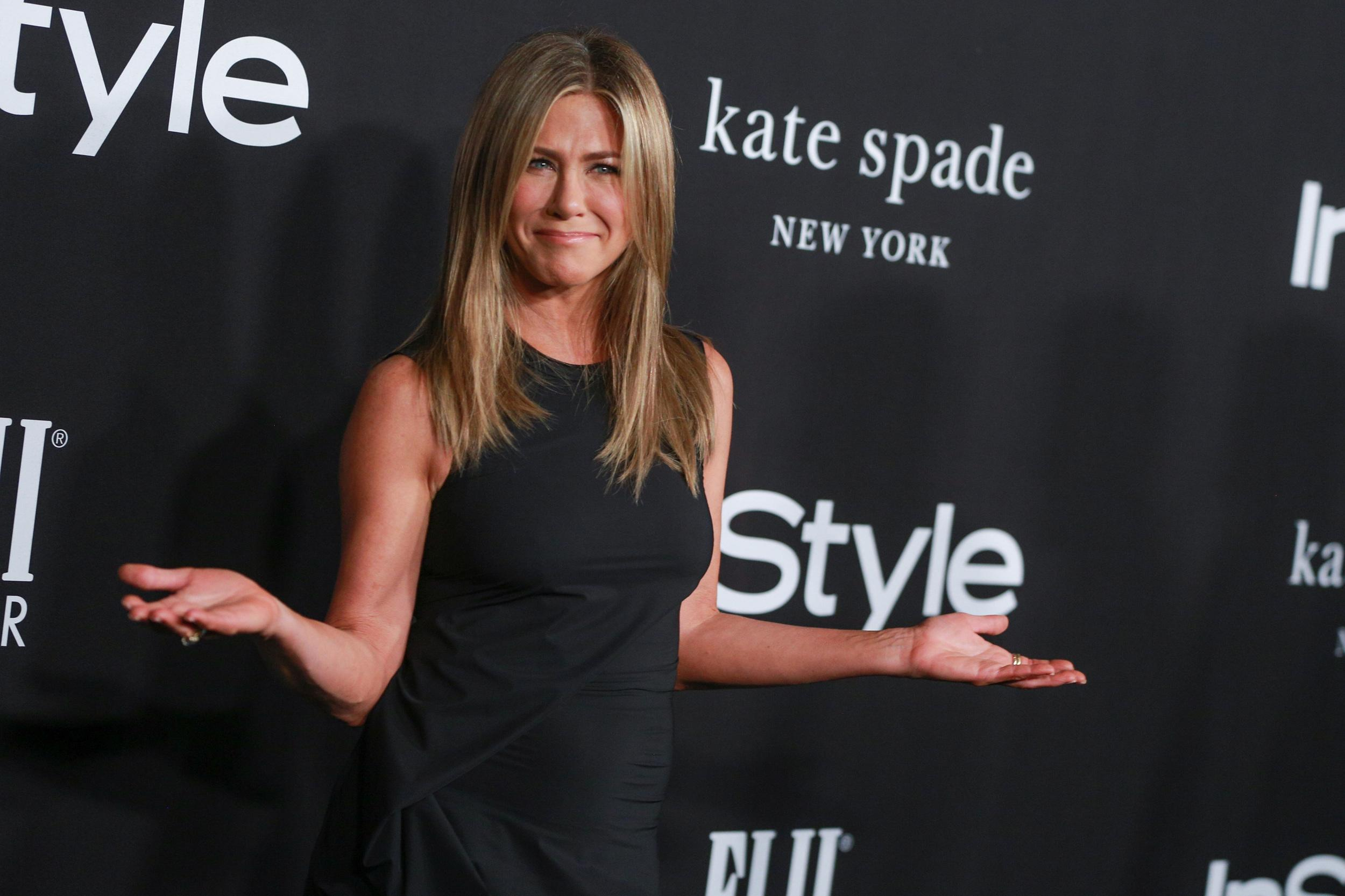 LOS ANGELES, CA - OCTOBER 22:  Jennifer Aniston attends the 2018 InStyle Awards at The Getty Center on October 22, 2018 in Los Angeles, California.  (Photo by Rich Fury/Getty Images)