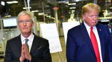 Trump alaba a Apple y Tim Cook en impensados gestos que podrían ayudar a Silicon Valley