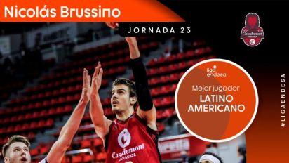 Brussino, elegido MVP latinoamericano por segunda jornada consecutiva
