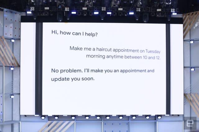 Google Duplex books a haircut appointment