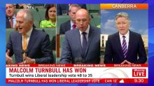 Malcolm Turnbull wins leadership vote, will remain PM