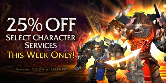 Blizzard puts some character services on sale