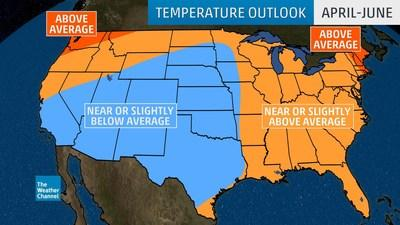 IBM's The Weather Company Releases Spring Forecast for the United States