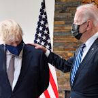 Joe Biden was corrected by Boris Johnson after the president interrupted him at the G7 summit
