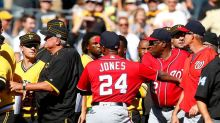 Drama between Nationals and Pirates as Bryce Harper leaves injured