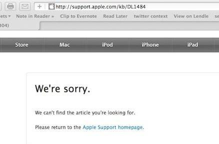 Safari users seeing random '404 not found' on valid support.apple.com pages