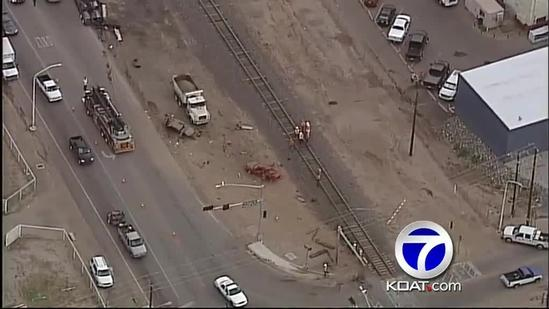 No one hurt in South Valley train crash