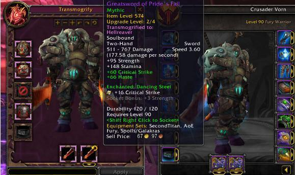 Warlords of Draenor Alpha: Transmog changes