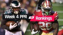 Week 4 Fantasy Football Running Back PPR Rankings