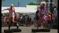 High-heeled drag stars race in Key West's Drag Race