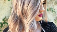Mauve Champagne Hair Is the Unexpected Way to Change Up Your Blonde for Fall
