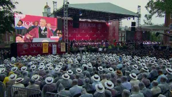 Obama gives speech at Morehouse graduation