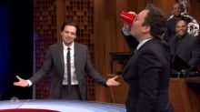 'Captain America' Cast Plays Musical Beers, Fallon Drinks Sebastian Stan's Spit