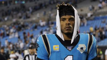 Banged-up Newton not at Panthers practice