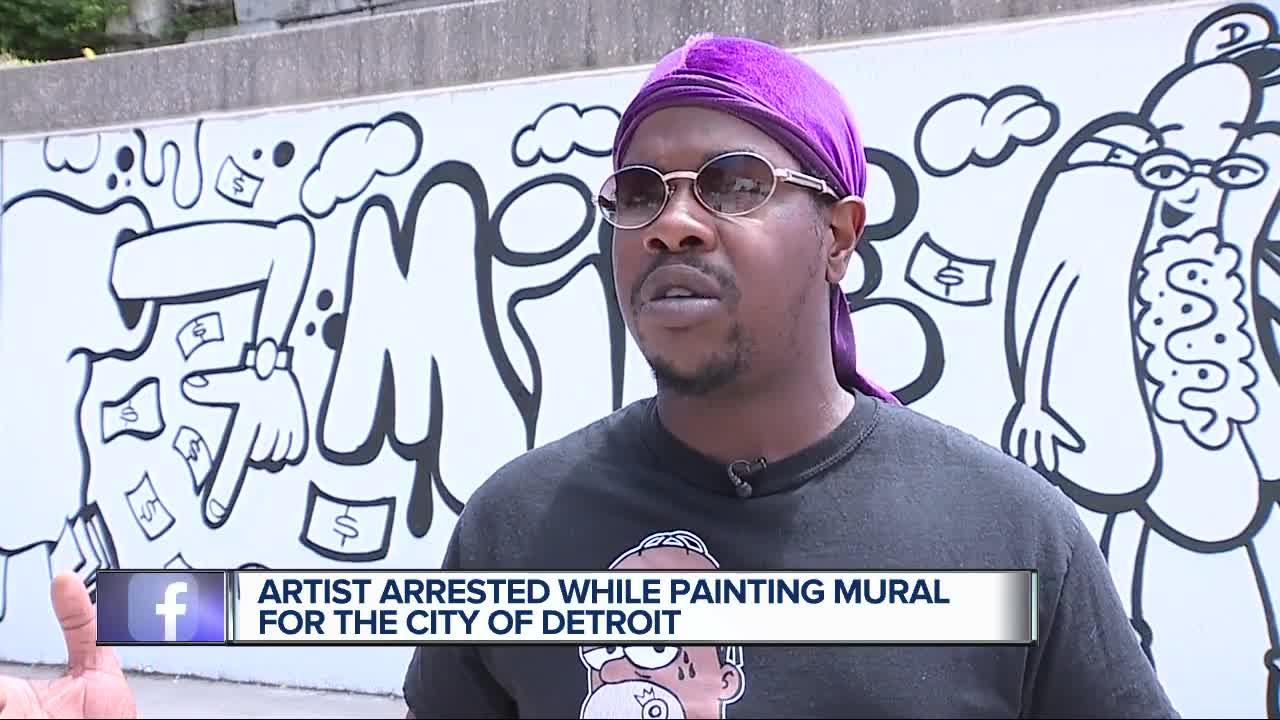 Police arrest artist who was hired by city to paint murals: 'I don't do graffiti, I sell paintings'