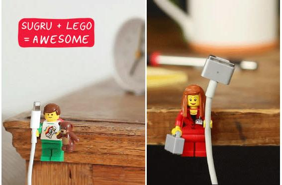 Create a playful cabling system with Legos and Sugru