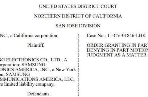 Judge Koh finds Samsung infringement of Apple patents was not willful, won't triple damages