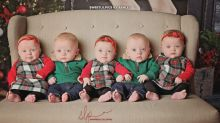 Quintuplets spread 'Quintmas' cheer with adorable Christmas photos