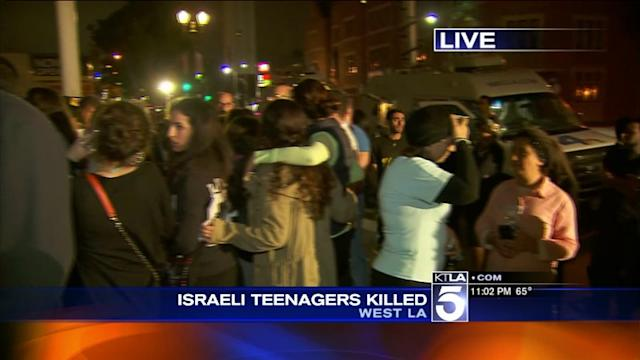 Vigil Held in West L.A. for Kidnapped Teens Whose Bodies Were Found in West Bank