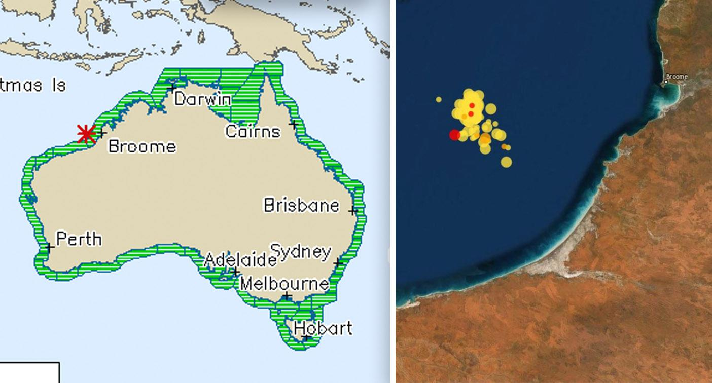 '70 aftershocks': Another earthquake registered off WA coast near Broome