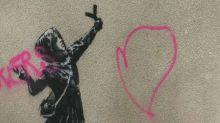 Banksy-Werk beschmiert