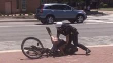 Video shows police officer using stun gun on cyclist for running a red light