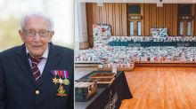 Local school converted into sorting office after Captain Tom Moore gets 90,000 birthday cards