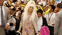 Lady Gaga Walks Tokyo Streets In Black Thong, Ripped Tights