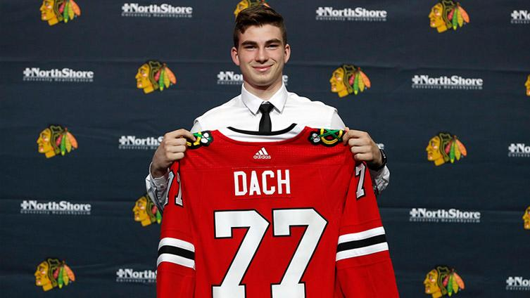 Charlie Roumeliotis goes 1-on-1 with Blackhawks No. 3 overall pick after he was welcomed to Chicago for the first time. Dach touches on his draft experience, why he wears No. 77 and much more.