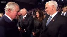 From this angle it sure appears as if Prince Charles snubbed Mike Pence