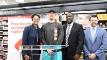 NBA Point Guard and Former Villanova Wildcat Donte DiVincenzo Helps CVS Health Kick Off Free Health Screenings in Philadelphia