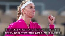 Tennis - Roland-Garros : L'émotion de Kvitova après sa qualification pour les quarts