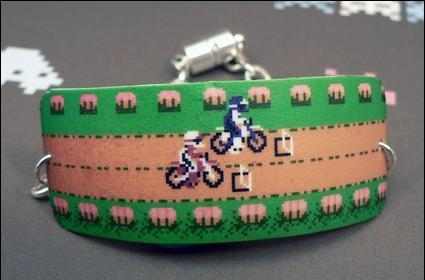 Excitebike bracelet pops wheelies on your wrist