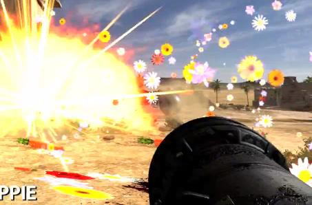 Serious Sam 3 blood options include green, hippie and kids