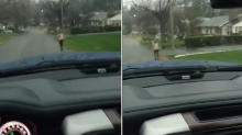 This dad is going viral for making his son, 10, run to school in the rain — did he go too far?