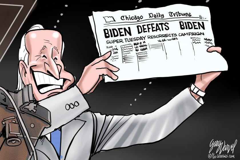 5 funny cartoons about Joe Biden's surprising primary surge