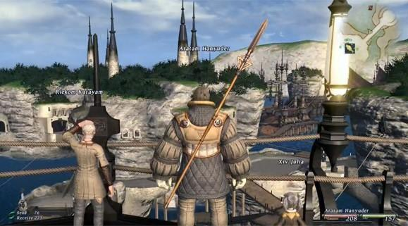 FFXIV gameplay footage explores cities, chocobos and emotes