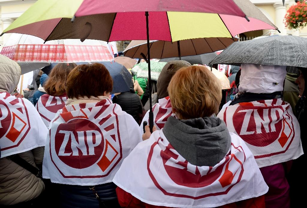 The ruling Law and Justice (PiS) party came under fire over issues including the abortion law, public health spending and a constitutional court crisis (AFP Photo/Janek Skarzynski)