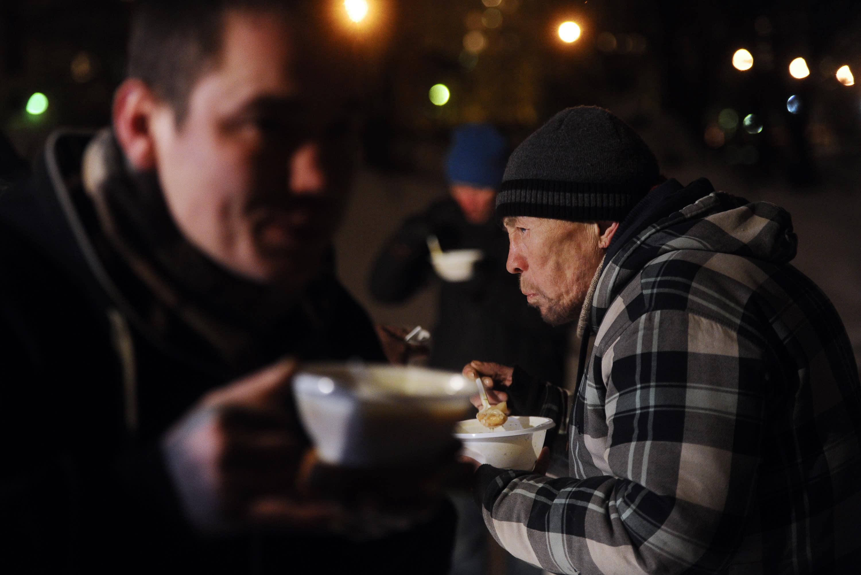 Rare help gets Saint Petersburg homeless through winter