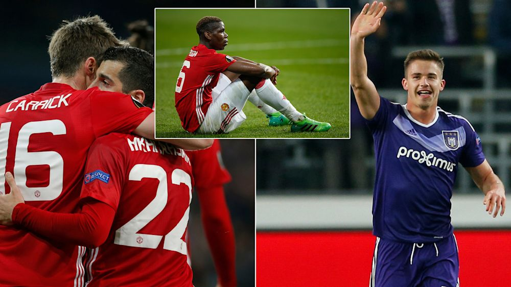 There was a twist in the tale for Manchester United against Anderlecht