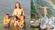 """Luana Piovani comemora aniversário viajando com os filhos: """"Eu sou rica"""""""